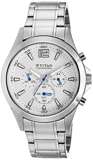 Titan Octane Chronograph Grey Dial Men's Watch -NK9323SM07 Men at amazon