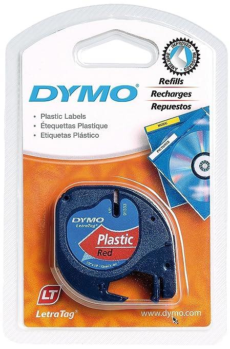 128 opinioni per Dymo LetraTag etichette in plastica, rotolo da 12 mm x 4 m, stampa nera su