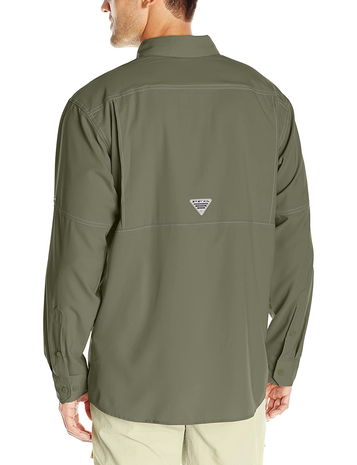 Moisture Wicking Fabric UPF 40 Protection Columbia Mens Low Drag Offshore Long Sleeve Shirt