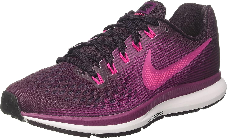Nike Women s Air Zoom Pegasus 34 Running Shoe Port Wine Deadly Pink-Tea Berry-Black 7