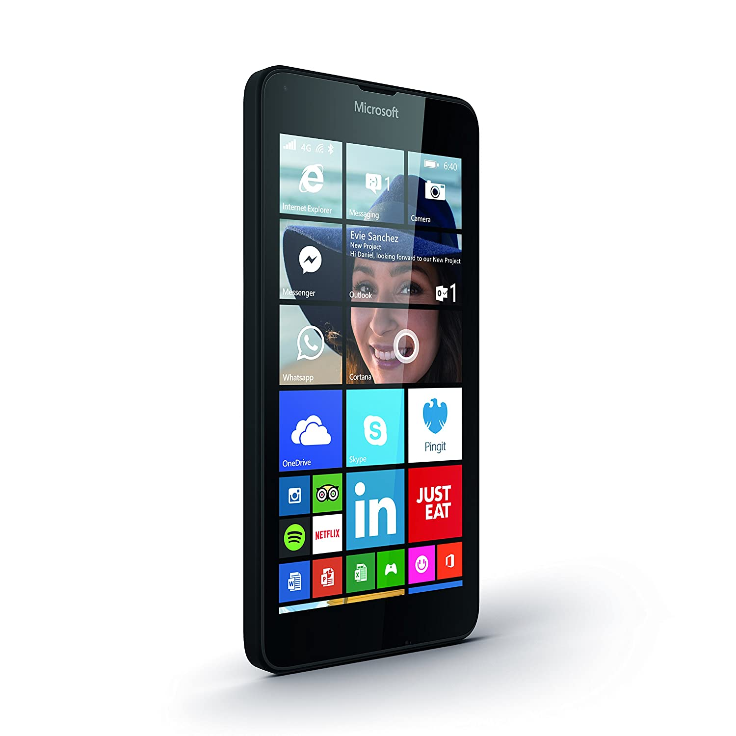 EE Pay As You Go Microsoft Lumia 640 Smartphone - Black (Includes GBP10 Pre  Loaded Credit, Unlimited Texts, 150 Minutes, 500MB Data)