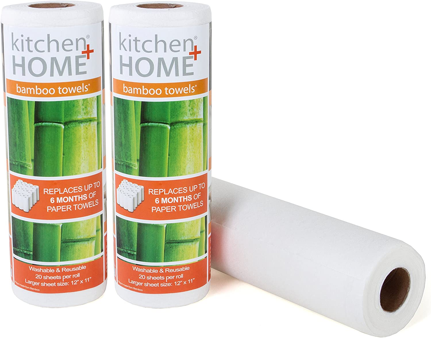 Kitchen + Home bamboo towels are a heavy duty alternative to your regular paper towel