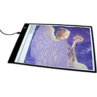 LED Tracing Board. Ultra Thin A4 Light Box is Ideal for Arts & Crafts Including DIY 5d Diamond Painting, Craft, Quilting…