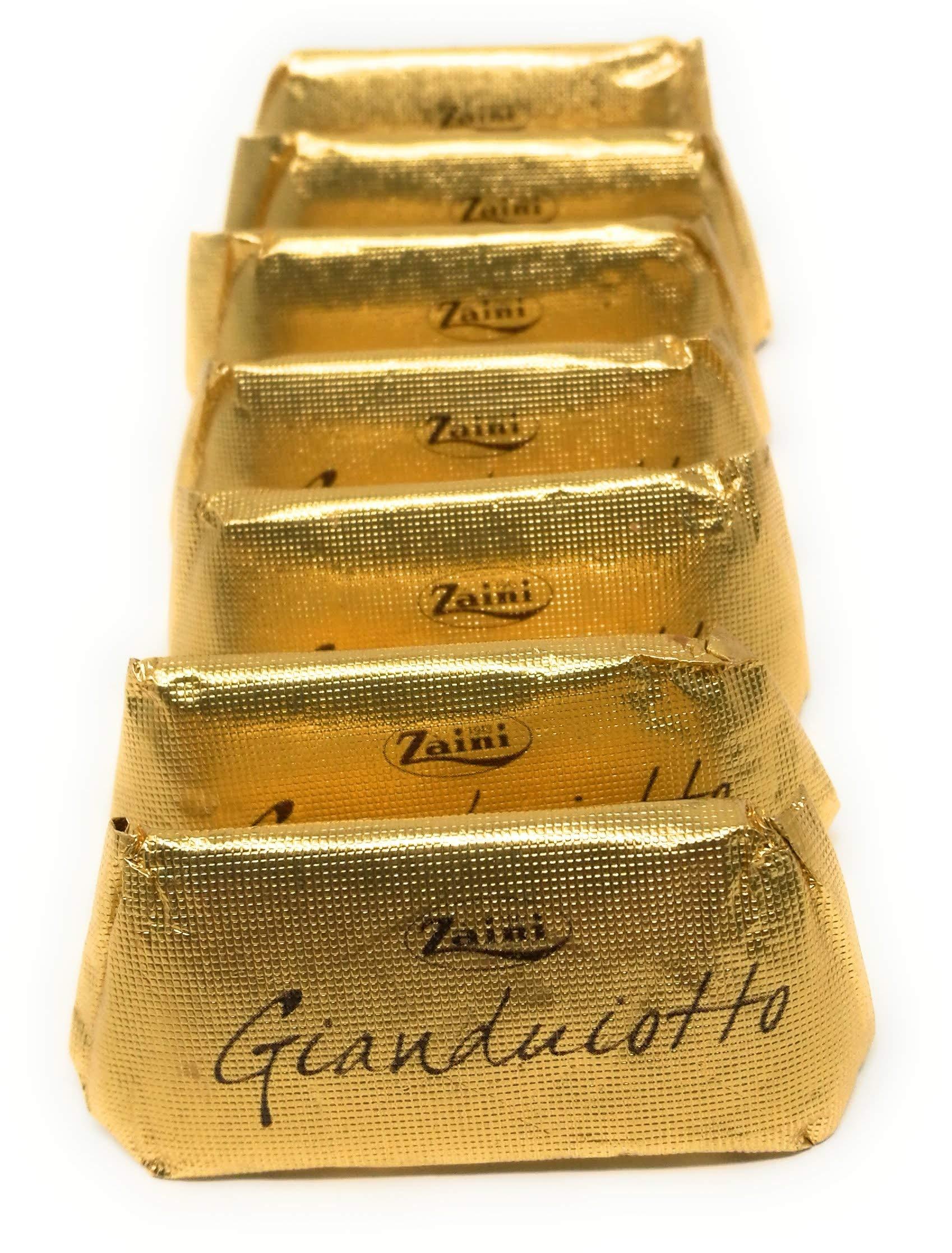 Zaini, Gianduiotto piedmontese Hazelnut Chocolate In Classic Gold Foil (100 pcs) by Zaini