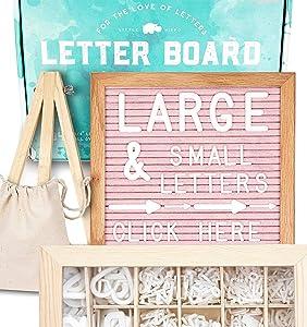 Felt Letter Board 10x10 (Pink) +690 PRE-Cut Letters +Cursive +UPGRADED WOODEN Sorting Tray | Letter Board with Letters, Letters Board, Letter Boards, Letterboard, Word Board, Message Board, Changeable