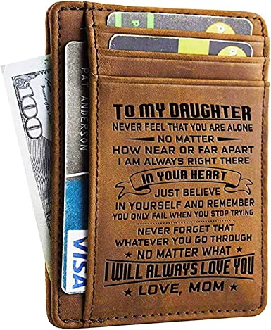 Farm House Genuine Leather Front Pocket Wallet Personalized