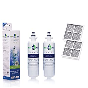 Twin Pack Set - 2 X WLF-01 LG Replacement Filter for LG LT700P + 2 X LT120F Fresh Air Filter