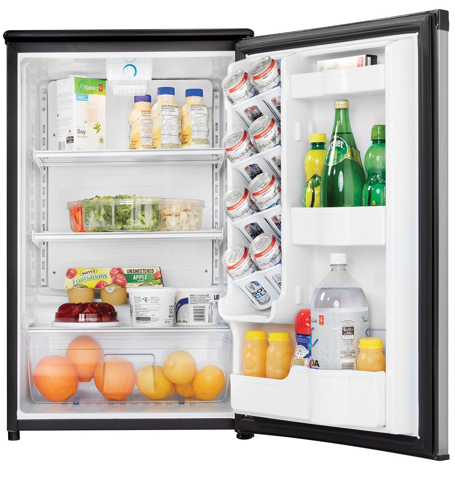 Danby DAR044A5BSLDD Compact Refrigerator, Spotless Steel Door, 4.4 Cubic Feet by Danby (Image #3)