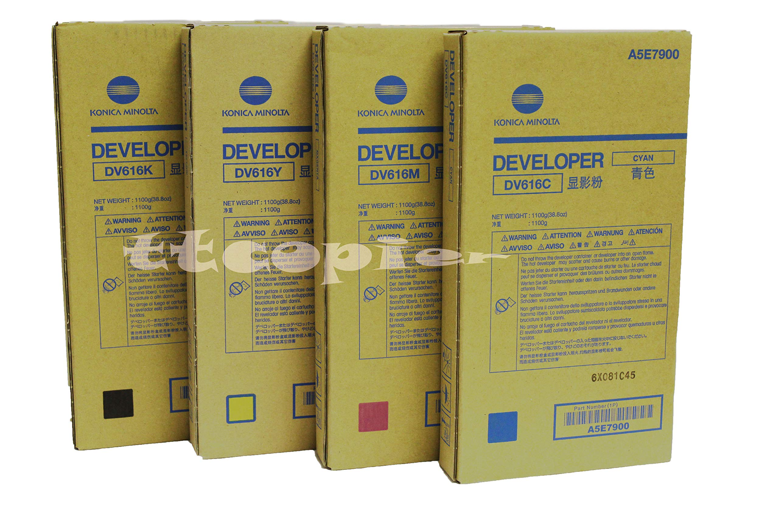 Genuine Konica Minolta (A5E7600 A5E7700 A5E7800 A5E7900), DV616 CMYK Developer for C1085 C1100