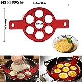 POAO Silicone Omelette,Crêpes Pancake moule,rapide & facile façon de faire Crêpes parfait Ustensiles de Cuisine