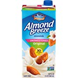 Almond Breeze Dairy Free Almondmilk, Unsweetened Original, 32 FL OZ (Pack of 12)