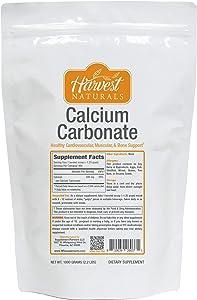 Calcium Carbonate Powder - Healthy Cardiovascular, Muscular & Bone Support - 1 Kilogram - Harvest Naturals