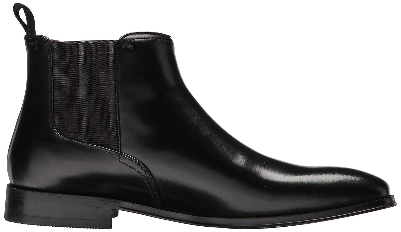 Black Florsheim Mens Belfast Plain Toe Gore Chelsea Boot