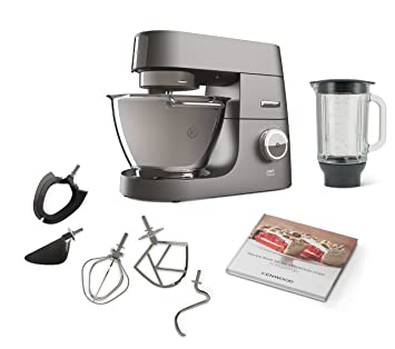 DeLonghi Titanium Chef System Pro Robot de Cocina, 1500 W, 3 kg, 10 Decibeles, Plata: Amazon.es: Hogar