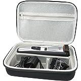 hard carrying travel case bag for philips electric shaver beard & head trimmer norelco multigroom 3100 5100 bt5210/42 7100 qg3330/49 qg3364/49 qg3390 by sanvsen