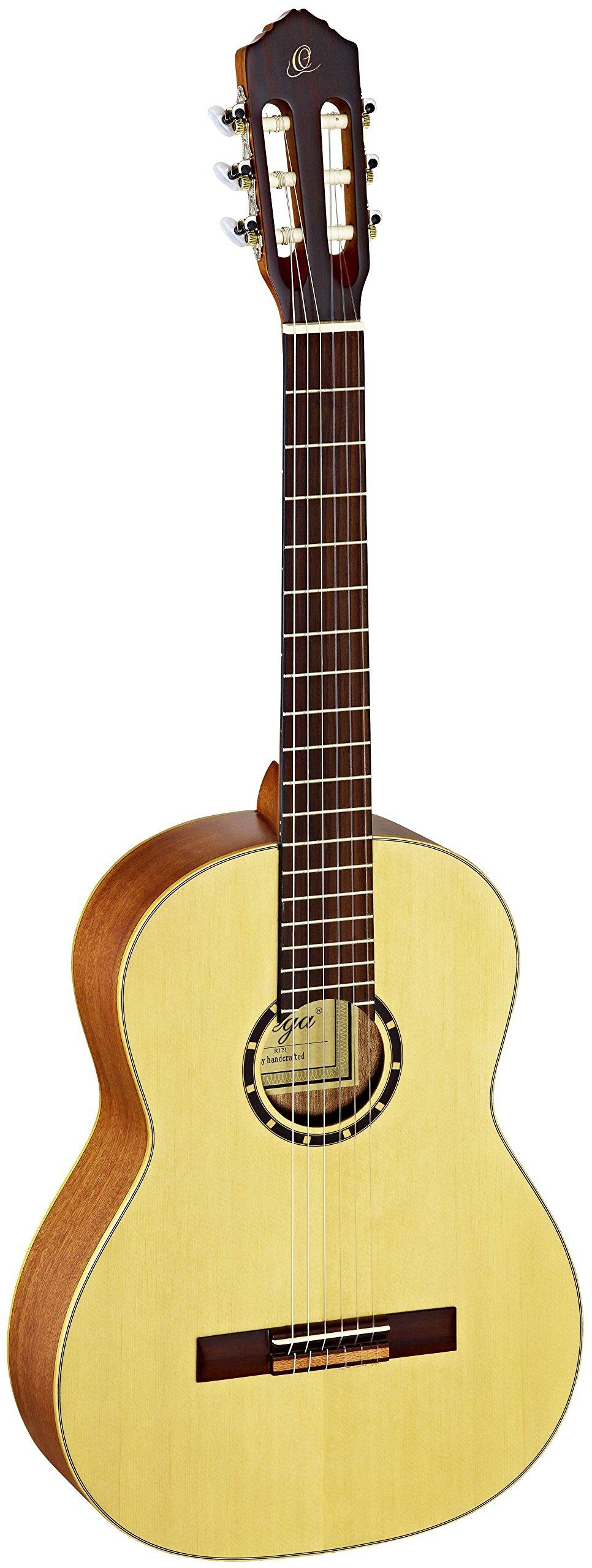 Ortega R121 - Guitarra clásica (abeto y caoba, tamaño 4/4),