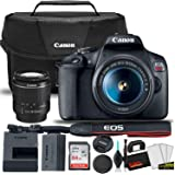 Canon EOS Rebel T7 DSLR Camera with 18-55mm Lens Starter Bundle + Includes: Canon EOS Bag + Sandisk Ultra 64GB Card + Clean a