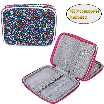 Flower Crochet Hook Case Needles Knitting Accessories Organizer Zipper Bag crochet case