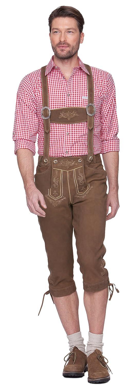 Herren Trachten Lederhose Marke STOCKERPOINT, Art. Justin2, Größe:48;Farbe:Torf antik braun