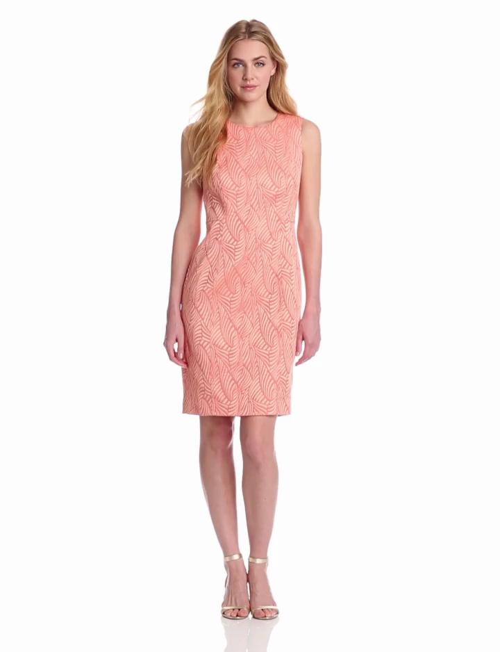 Calvin Klein Womens Sheath Dress