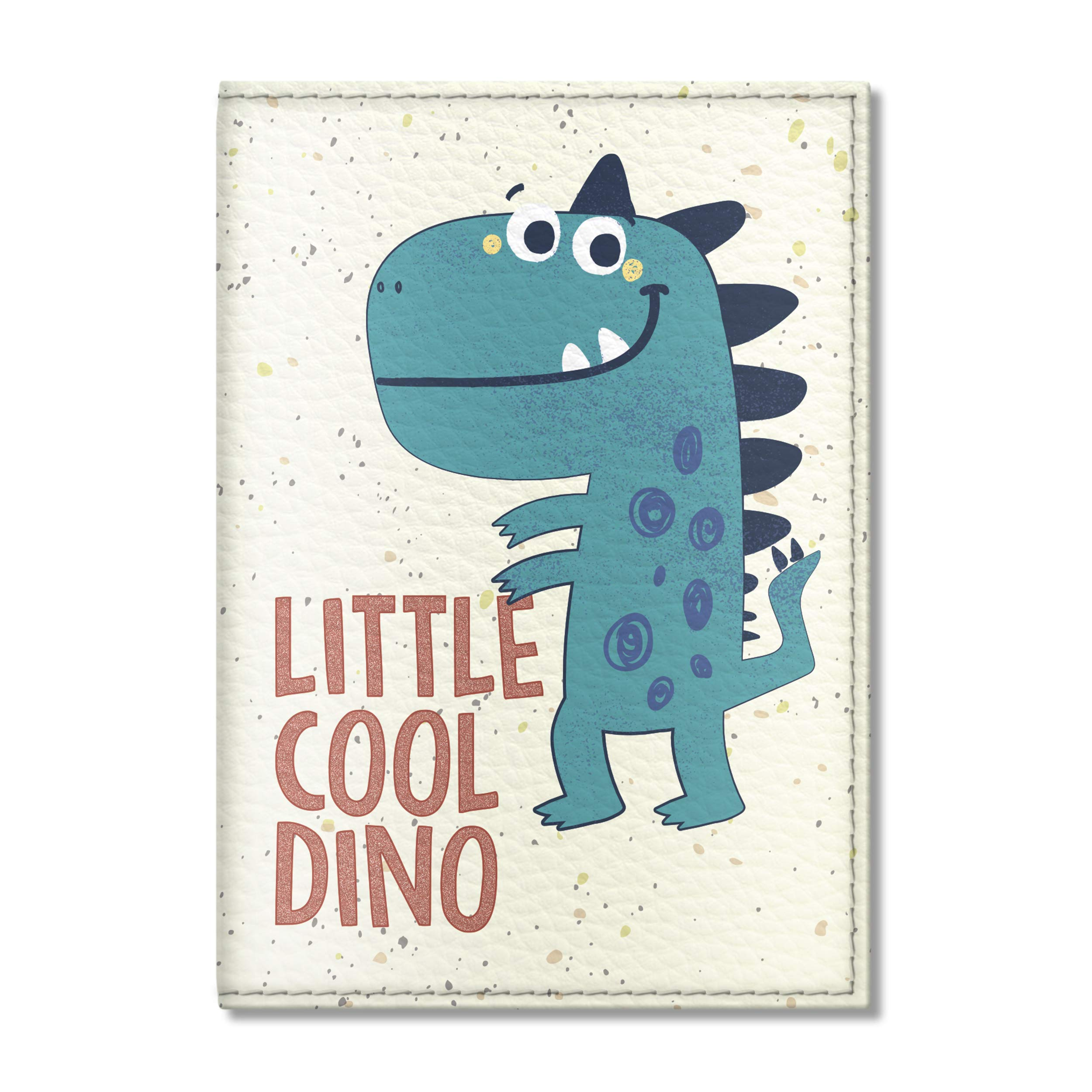 Quttie, Kids Vegan Eco Leather Passport Cover, Passport Holder (Little Cool Dinosaur)