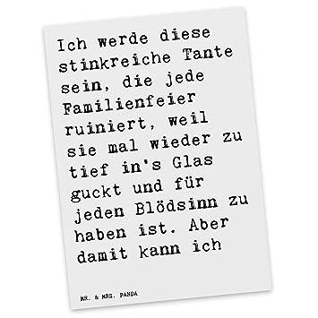 """Mr & Mrs Panda Postkarte mit Spruch """"Ich werde se stinkreiche"""