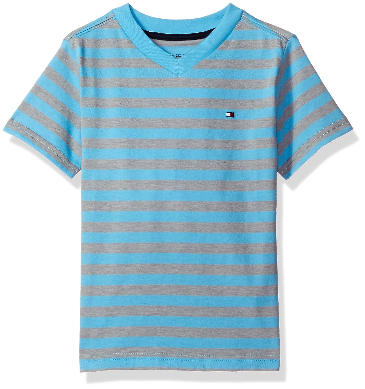Tommy Hilfiger Boys' Short Sleeve V-Neck Striped Tee Ben Stripe Tee