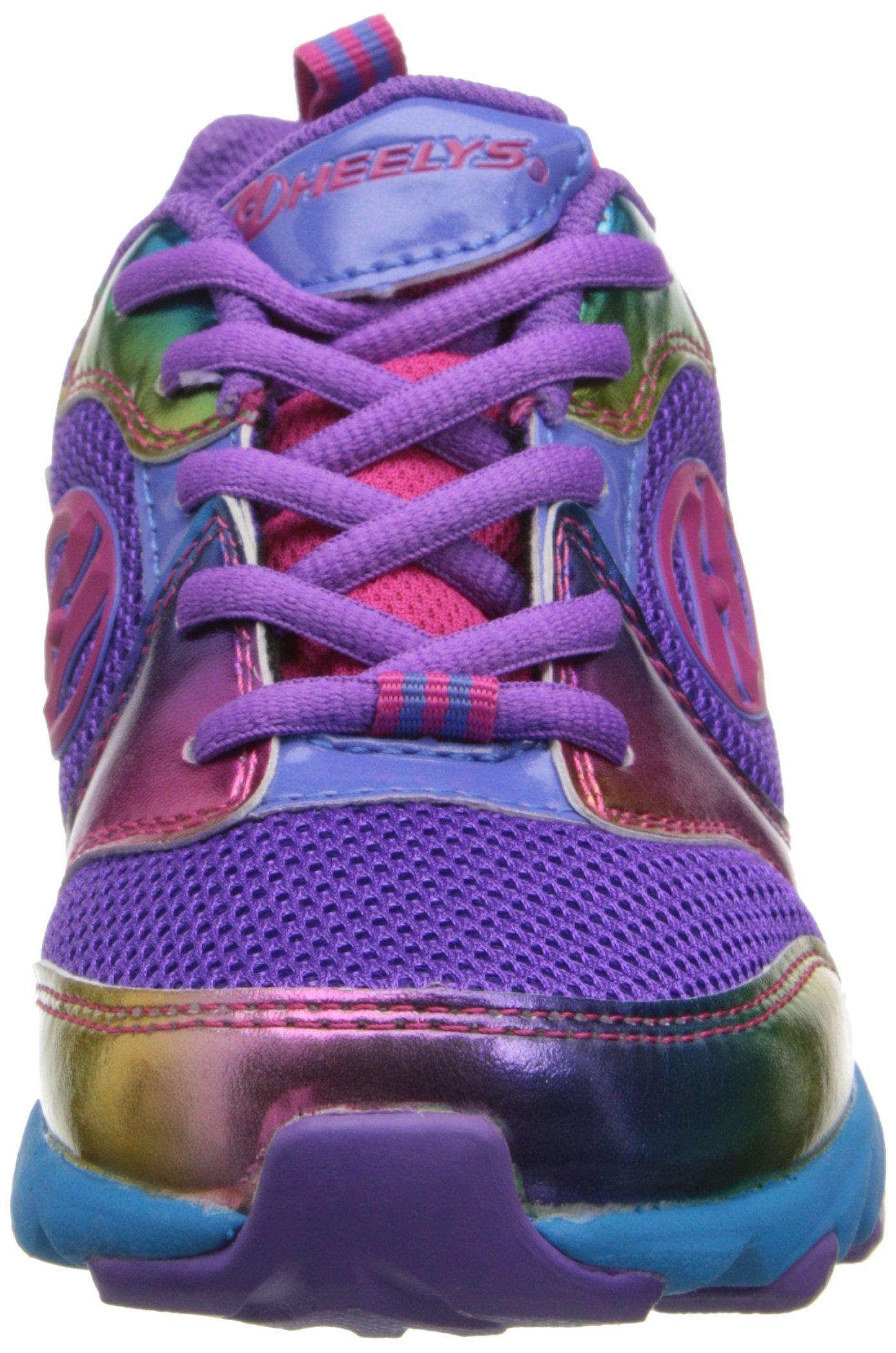 Heelys Race Skate Shoe (Little Kid/Big Kid),Purple/Rainbow,2 M US Little Kid by Heelys (Image #4)