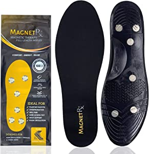 MagnetRX® Magnetic Therapy Shoe Insoles - Gel Comfort Magnetic Shoe Inserts with Magnets - Foot Orthotics Magnetic Insoles for Plantar Fasciitis & Pain Relief (Women's: US 5-10 / EU 35-40)