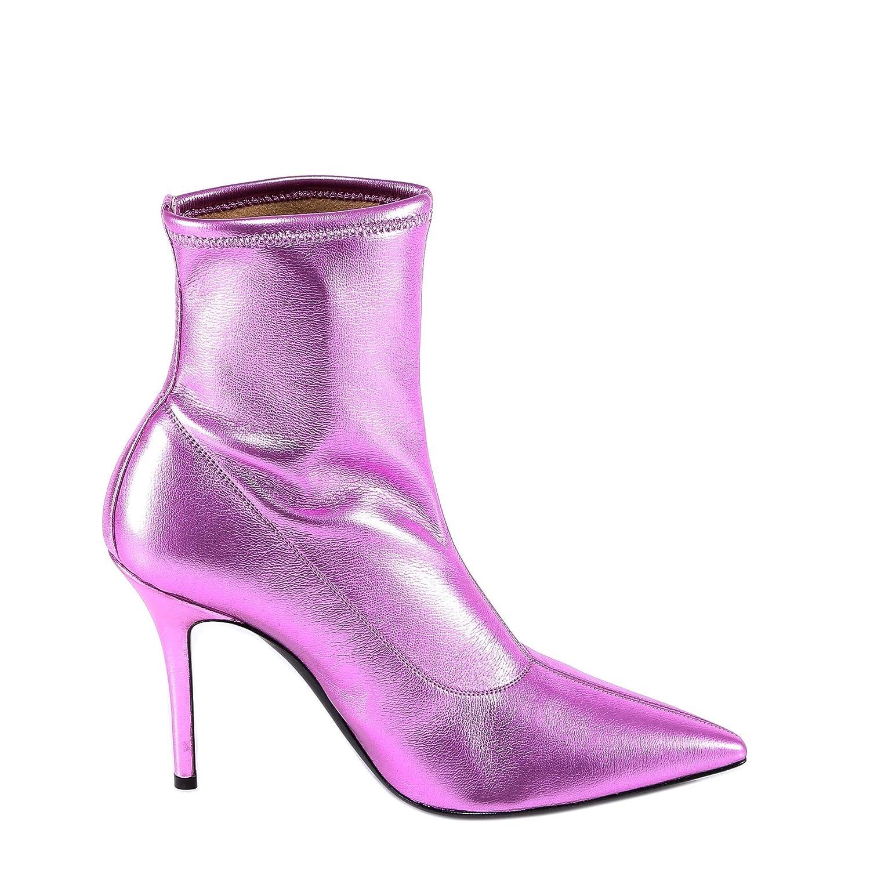 - GIUSEPPE ZANOTTI DESIGN Women's I870030003 Fuchsia Leather Ankle Boots