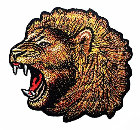 Cabeza de León Zoo Safari Animal Wildlife África Logo camiseta parche chaqueta coser hierro en parche