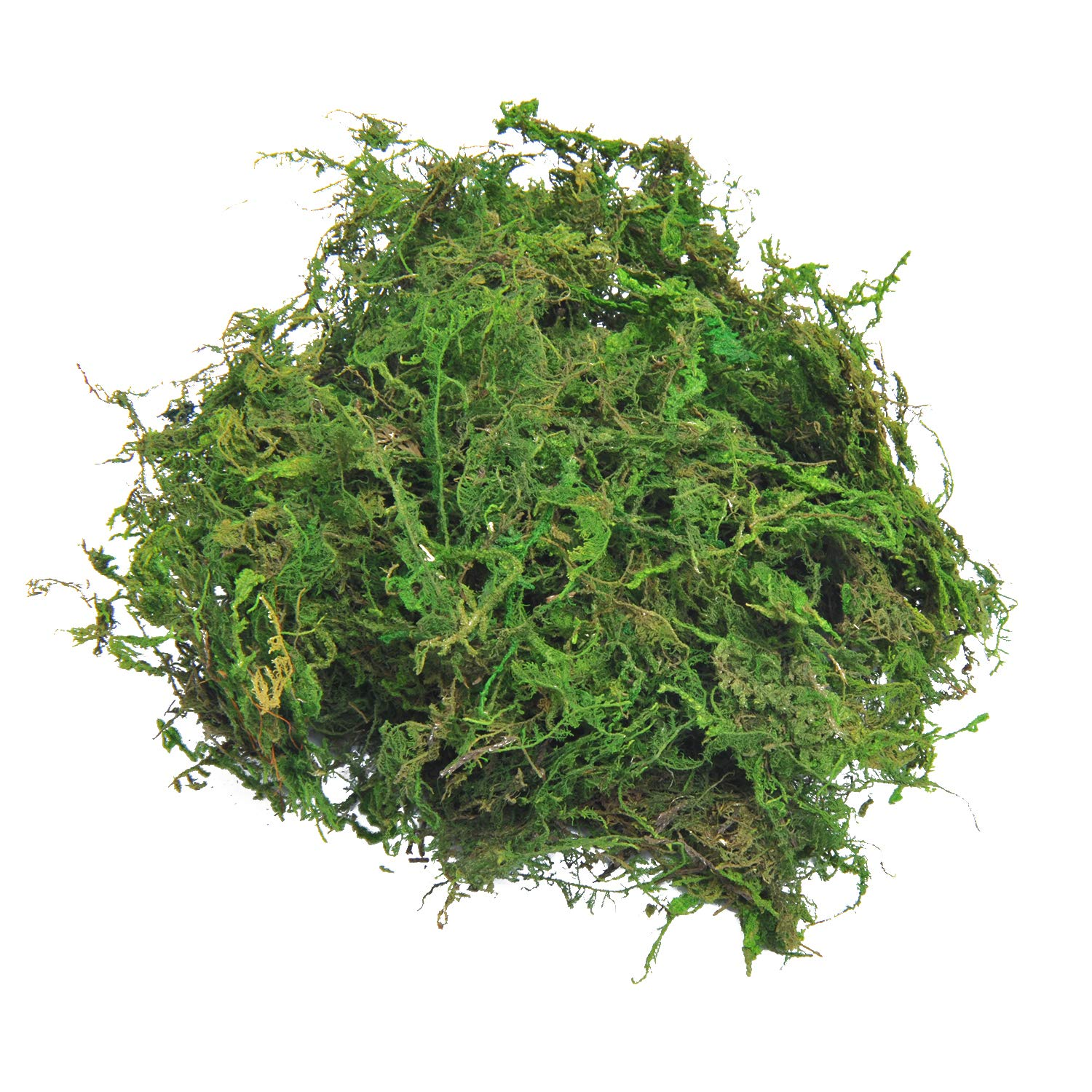 TOPCOMWW Fake Moss for Centerpieces Decor, Aftificial Green Moss for Plant Crafts Flower, 3.5oz