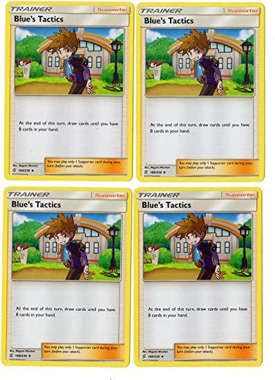 trainer,blues tactics,suporter,pokomon card