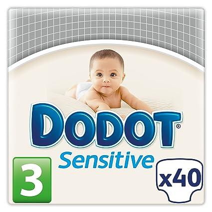 Dodot Sensitive - Pañales para bebé, talla 3, 40 pañales
