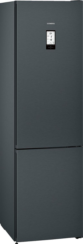 Siemens KG39FPB45 iQ700 Kühl-Gefrier-Kombination / A+++ / 203 cm / 180 kWh/Jahr / 285 L Kühlteil / 110 Gefrierteil / TouchControl Elektronik / inox-antifingerprint / schwarz / NoFrost [Energieklasse A+++]