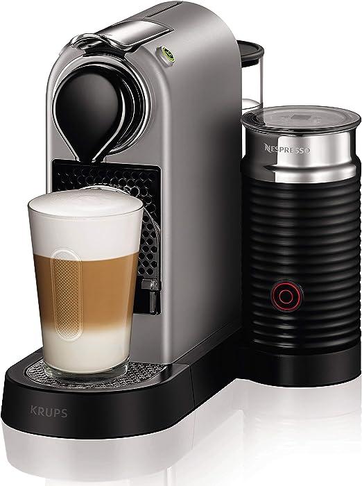 Nespresso Krups Citiz XN760B - Cafetera monodosis de cápsulas Nespresso con aeroccino, compacta, 19 bares, apagado automático, color titán (Reacondicionado): Amazon.es: Hogar