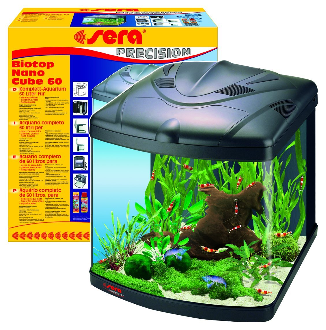 Amazon.com: Sera 15 Gallon Biotope 60 Nano Cube Aquarium: Everything Else