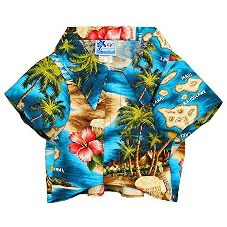 7ea86b7f ROBERT J. CLANCEY LTD Hawaiian Aloha Camp Shirt for Dogs - Tropical Pet Top  -