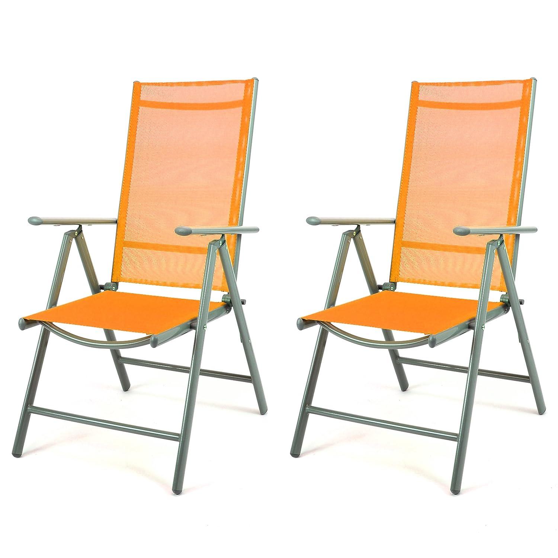 Amazon.de: Nexos 2er Set Klappstuhl Gartenstuhl Campingstuhl Liegestuhl    Sitzmöbel Garten Terrasse Balkon   Klappbarer Stuhl Aus Aluminium U0026  Kunststoff   ...