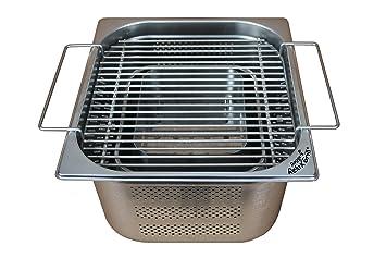 Rogge s Relax Barbacoa® – Empotrable Barbacoa de acero inoxidable para mesa de jardín
