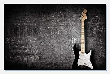 wandmotiv24 Cuadro de Lienzo Guitarra eléctrica 80x50cm (Ancho x ...
