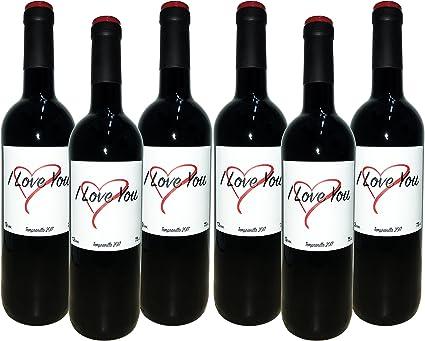 VINOS I LOVE YOU D.O. VALENCIA Vino Tinto - 6 Botellas x 750 ml - Total: 4500 ml: Amazon.es: Alimentación y bebidas