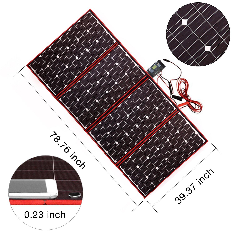 300W  DOKIO 折りたたみ 充電コントローラ付 ソーラーパネル