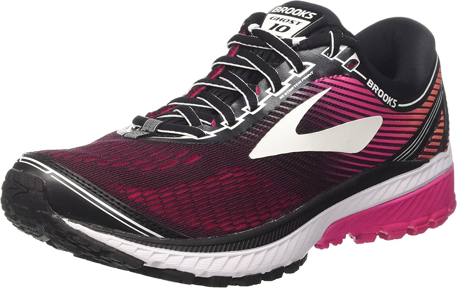 Brooks Ghost 10, Zapatillas de Running para Mujer, Multicolor (Blackpinkpeacocklivingcoral 1b067), 35.5 EU: Amazon.es: Zapatos y complementos