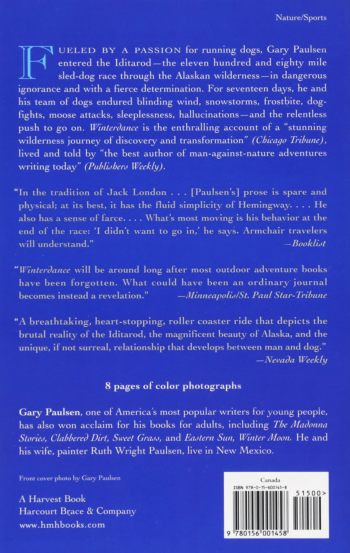 Winterdance The Fine Madness Of Running Iditarod Gary Paulsen 9780156001458 Amazon Books