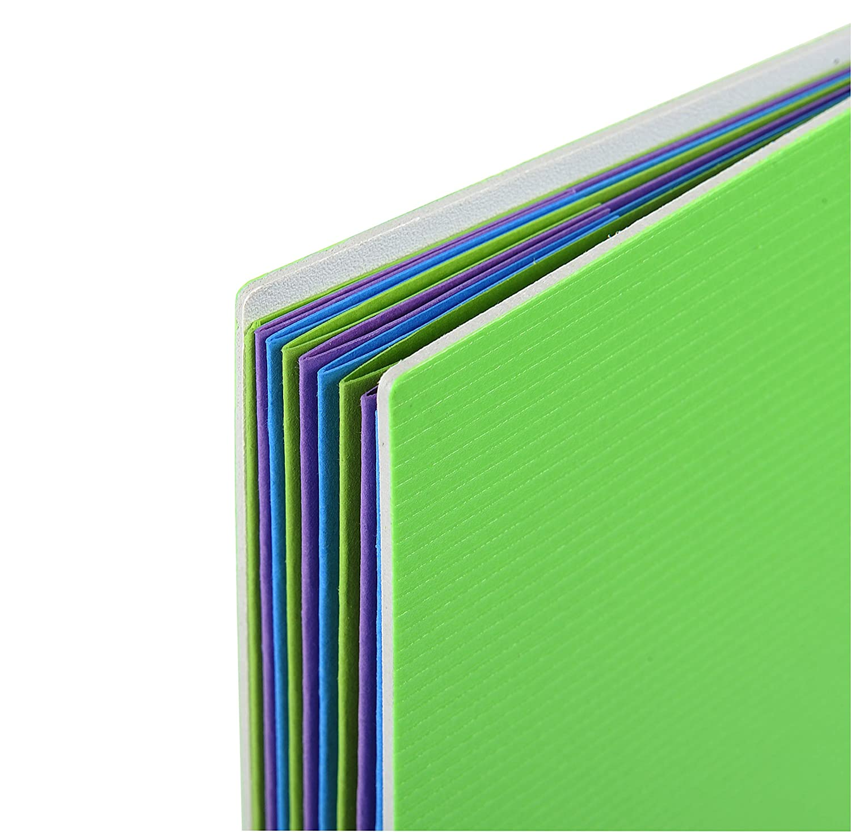 aus PP, robust und strapazierf/ähig, mit 30 H/üllen, DIN A4, 21 x 29,7 cm 1 St/ück farbig sortiert Exacompta 85661E Campus Neon Sichtmappe