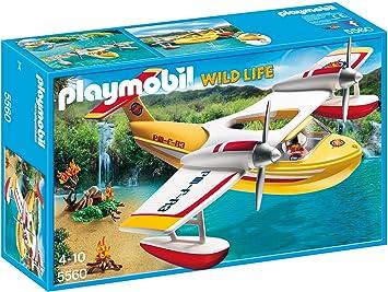 Playmobil Löschflugzeug von Playmobil mit Pilot und Wassertank von Playmobil Abenteuer