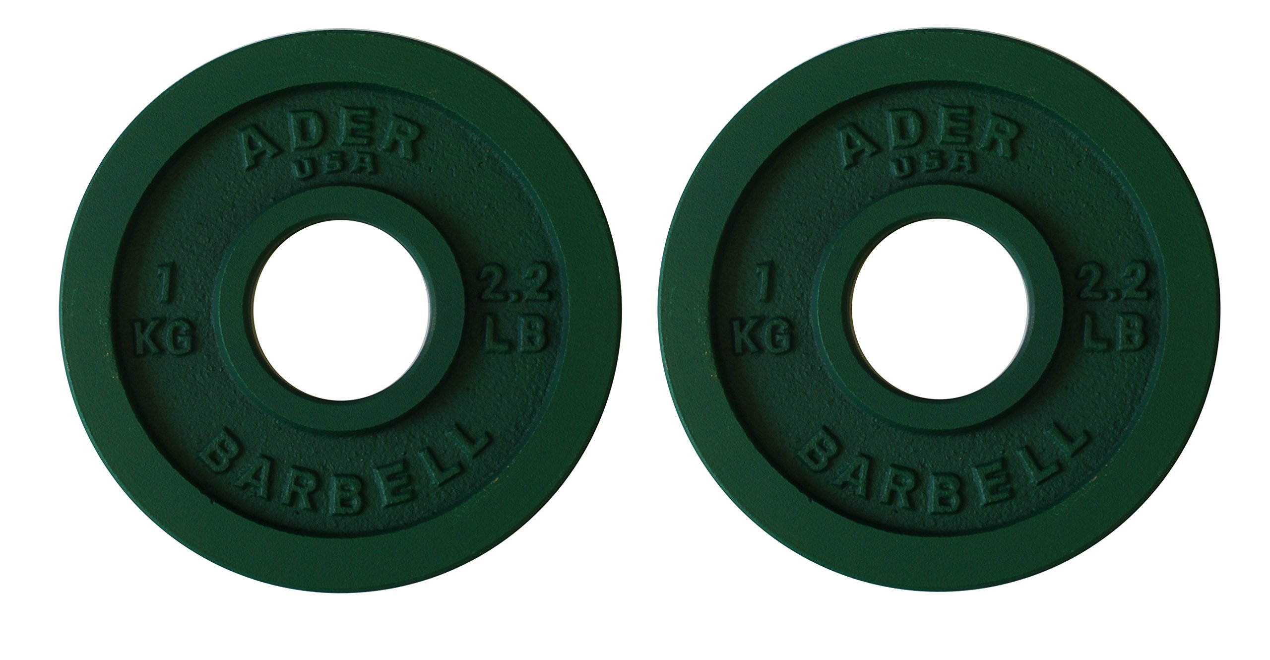Ader Precision Green Olympic Plates (1.0 Kg X 2pcs)