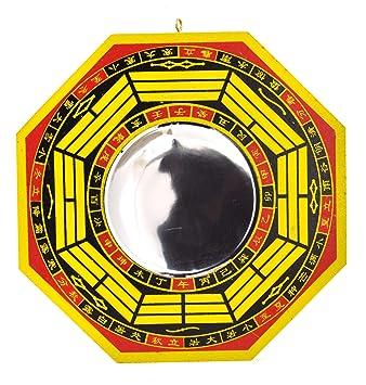 Spiegel Feng Shui crafts mandala 20 cm feng shui bagua spiegel konkav amazon de