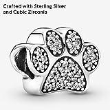 Pandora Jewelry - Sparkling Paw Print Charm in
